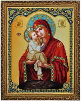 Набор для вышивания бисером Икона Божией Матери Почаевская P-187