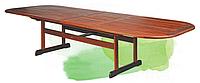 Стол деревянный раскладной для вашей дачи: 220/320х120х73 см, древесина мербау