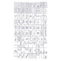 Трафареты-наклейки для nail-art №5, в наборе 5 листов