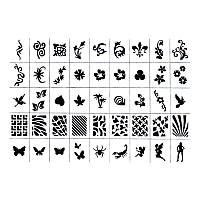 Трафареты-наклейки для nail-art №4, в наборе 10 листов, по 45 видов, весеняя коллекция