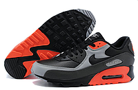 Кроссовки мужские Найк Air Max 90 Premium Black Ash Grey Total Crimson оригинал
