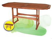 Красивая мебель для дома и дачи, стол из бука, овальный/прямоугольный, 160х80х73 см