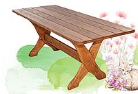 Прочная мебель для сада стол 200/140х80 см, древесина ясень/дуб