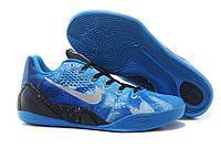Кроссовки мужские Найк Zoom Kobe 9 темно-синего цвета баскетбольные оригинал