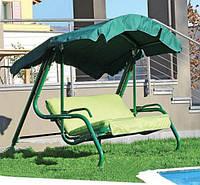 Комфортные и устойчивые садовые качели из Италии Felicia Dralon, с навесом от солнца и дождя