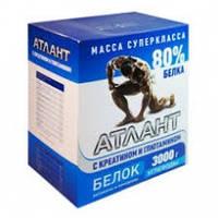 Протеин Атлант 80%+ 180 Г Креатина+90 Г Глютамина (синий) (6 кг)