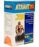 Протеин Атлант 80%+ 35 Г КРЕАТИНА+15 Г ГЛЮТАМИНА (синий) (1 кг)