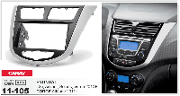 2-DIN переходная рамка HYUNDAI i-25, Accent, Solaris, Verna 2010+ / DODGE Attitude 2011+, CARAV 11-105