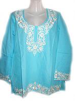 Женская блуза туника натуральный хлопок, 48 размер