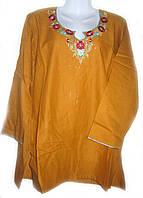 Женская летняя блуза туника, 52 размер