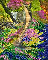 Схема для вышивки бисером Карьерная лестница