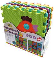 Детский игровой коврик-пазл «Веселый зоопарк»