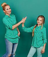 Штапельная лёгкая рубашка Валентинка