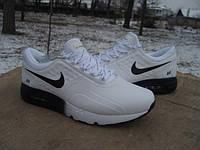 Кроссовки Nike Air Max Zero кожа white-black (размеры 41-45)