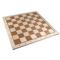 Доска шахматная из дерева с разметкой Польша