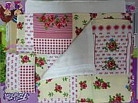 Набор постельного белья для кукольной кроватки арт. 072