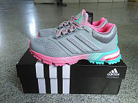 Кроссовки женские Adidas Marathon 15 Grey-pink красные (Оригинал). кроссовки адидас, кроссовки адидас