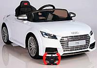 Детский электромобиль AUDI TTS  (белый) Rastar