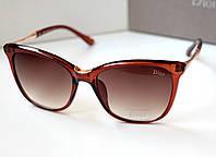 Женские солнцезащитные очки Dior Ella коричневые , очки 2016
