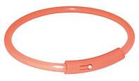 """Светящийся ошейник для собак Trixie (Трикси) """"Safer Life Light Band"""" оранжевый, 42 см"""