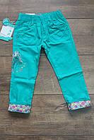 Стрейчевые котоновые брюки для девочек 1- 2- 3- 4- 5 лет. бирюза,малиновый,коралл,мятный