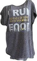 Женская футболка Батал трикотаж