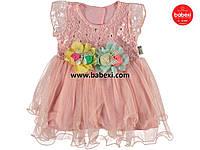 Нарядное ажурное платье для девочек 6,9 мес. 48229