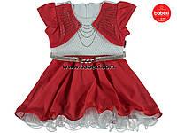 Нарядное платье с болеро для девочек 1,2,3 лет. 200112