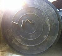 Люк полимерпесчаный канализационный тяжелый (до 25 тонн) черный с замком