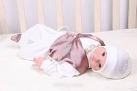 Крестильный комплект для новорожденного мальчика. Размер 0-3 мес