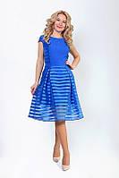 Нарядное женское платье яркого цвета