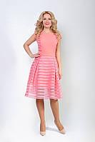 Женское платье розового цвета из органзы