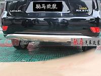 Декоративная накладка на задний бампер Lexus RX350 2009-2012