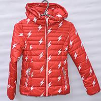 Демисезонная курточка для девочки 6-14 лет Electric красная