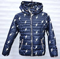 Демисезонная курточка для девочки 6-14 лет Electric черно-синяя