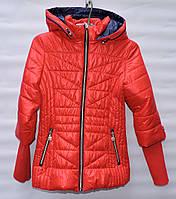 Демисезонная курточка для девочки 6-14 лет RedBlack красная