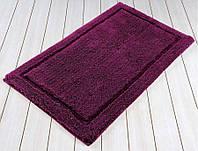 Коврик для ванной 60х100 хлопок/бамбук IRYA LINDA фиолетовый