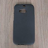 Чехол-крышка для HTC One M8 Чёрный Silicon