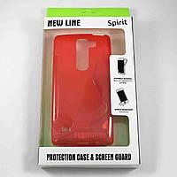 Чехол-крышка для LG Spirit H422 Красный New Line