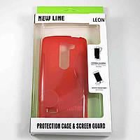 Чехол-крышка для LG Leon H324 / H340 Красный New Line
