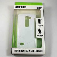 Чехол-крышка для LG Leon H324 / H340 Белый New Line