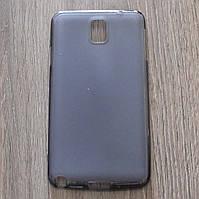 Чехол-крышка для Samsung Galaxy Note 3 N9002 Чёрный/Прозрачный Silicon