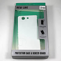 Чехол-крышка для Sony Xperia Z3 Compact D5833 Белый New Line + плёнка