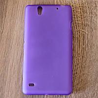Чехол-крышка для Sony Xperia C4 Фиолетовый Silicon