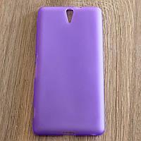 Чехол-крышка для Sony Xperia C5 Ultra Dual E5533 Фиолетовый Silicon