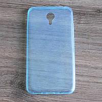 Чехол-крышка для Meizu M2 Note Голубой Silicon