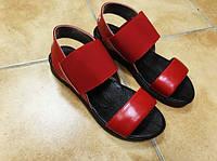 Женские кожаные красные босоножки Rendi. Укриана