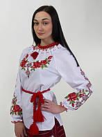 Женская вышиванка на длинный рукав, ткань хлопок, норма и баталл