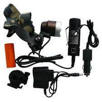 Фонарь на лоб Police 6810-5000/13000W T6 + вело