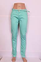 Женские летние брюки бирюзового цвета Moon girl (код 6200)